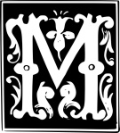 decorative_letter_set_m_clip_art_24509