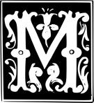decorative_letter_set_m_clip_art_24509